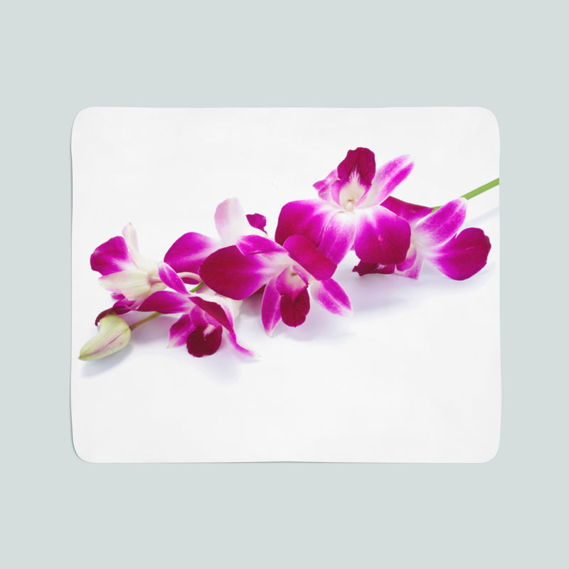 Fleece Blanket Purple-Crimson Orchid