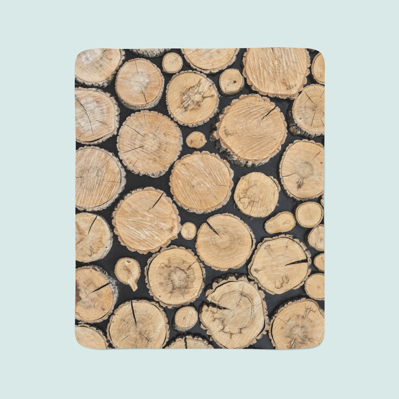 Fleece Blanket Tree Stumps