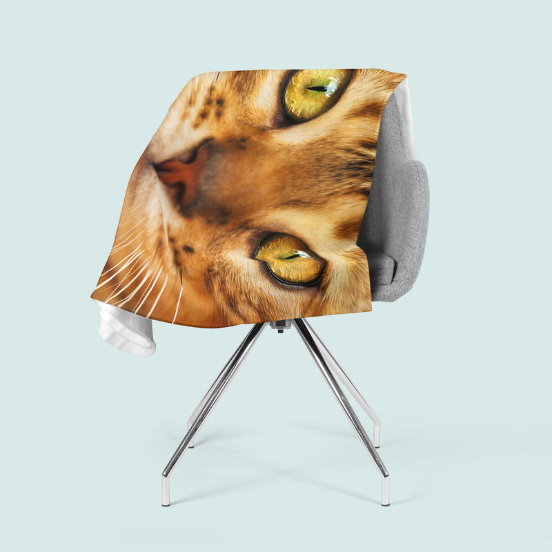 Fleece Blanket Red Cat