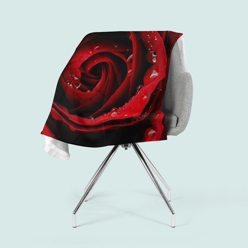Fleece Blanket Red Rose