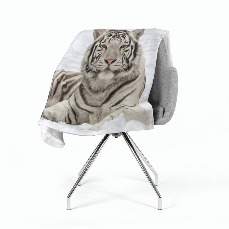 Fleece Blanket White Beauty