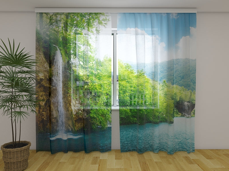 Photo Curtain Paradise Place - Wellmira