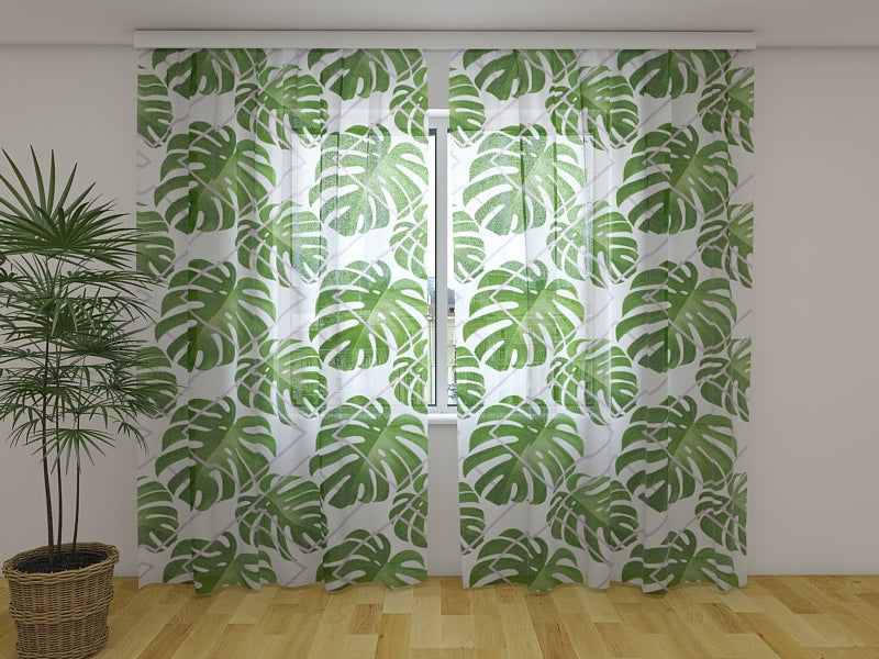Photocurtain Tropical Palm Leaves - Wellmira