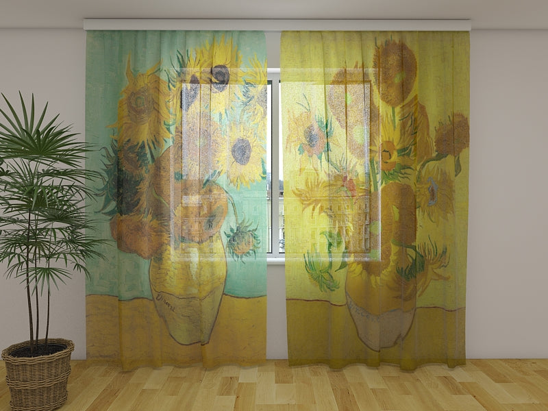 Photocurtain Sunflowers Vincent van Gogh - Wellmira