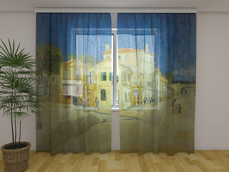 Photocurtain The Yellow House Vincent van Gogh - Wellmira