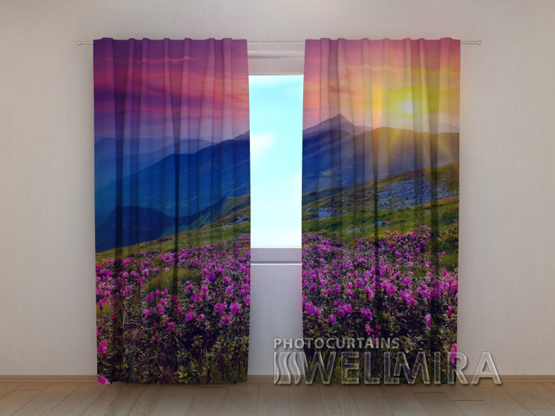 3D Curtain Fantastic Mountains - Wellmira