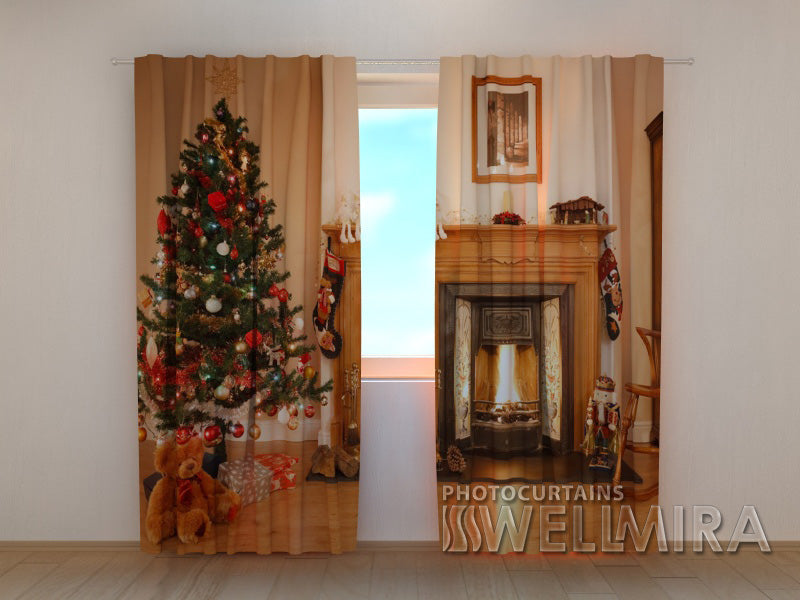 Photo Curtain Fireplace - Wellmira