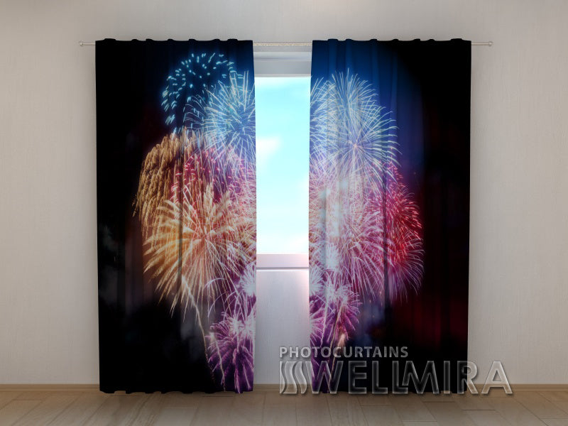 Photo Curtain  Fireworks - Wellmira