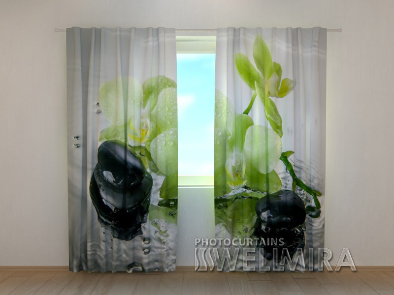 Photocurtain Pistachio Orchid - Wellmira