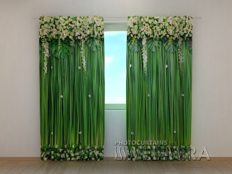 3D Curtain Flower Lambrequins Snow-White Flowers - Wellmira