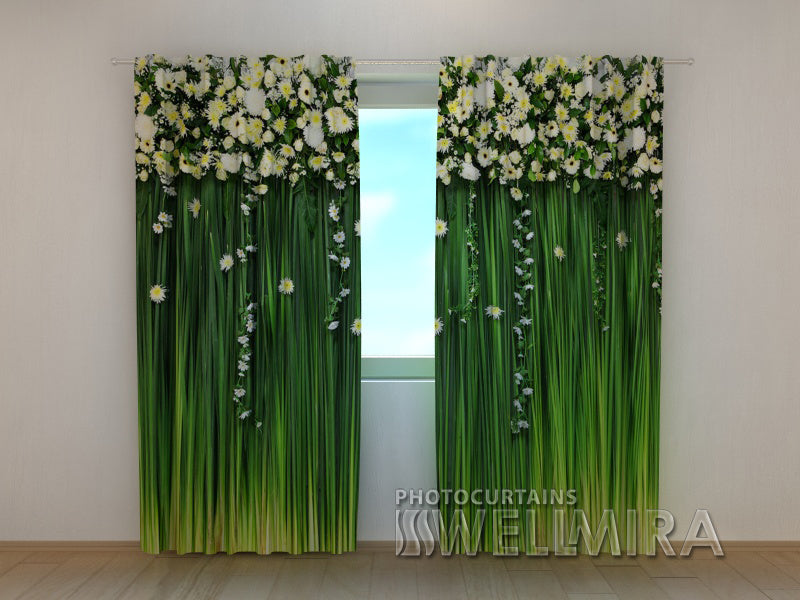 Photo Curtain Flower Lambrequins Freshness of Spring - Wellmira