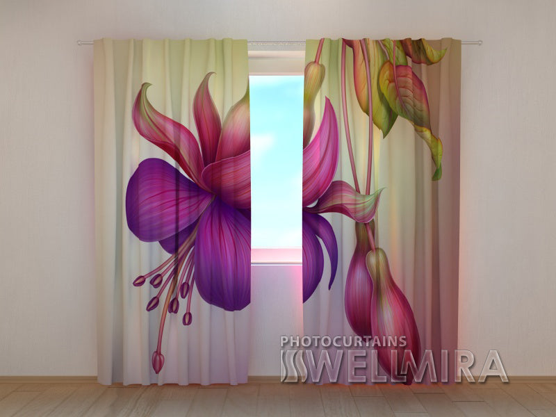 Photo Curtain Flower - Wellmira