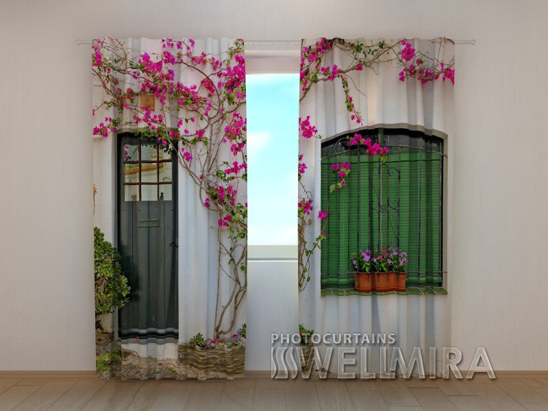 3D Curtain Flowers on the Window - Wellmira