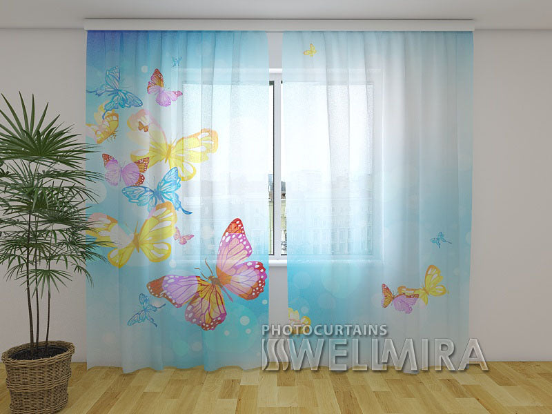 Photo Curtain Butterfly in the Sky