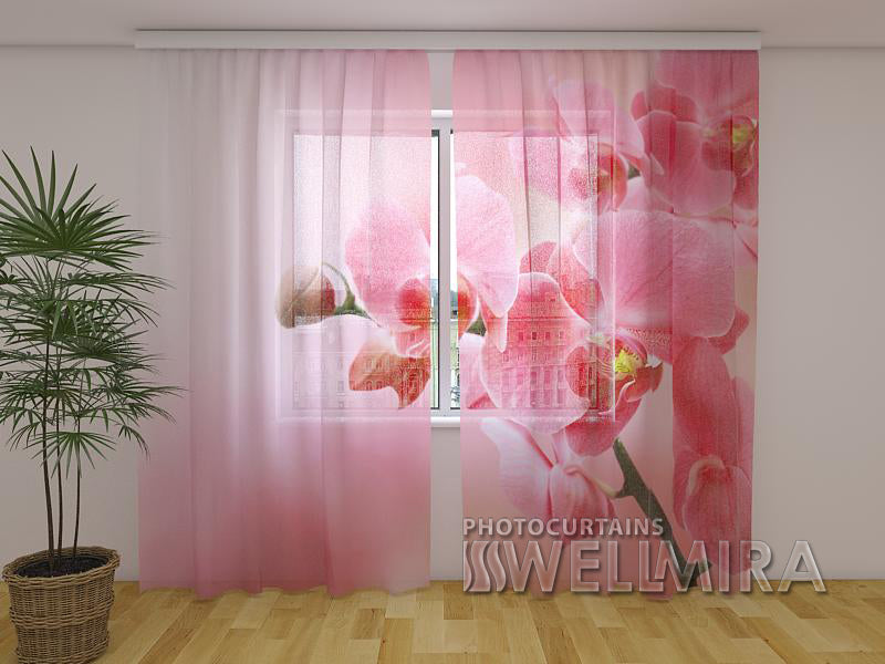Photocurtain Pink Orchid - Wellmira