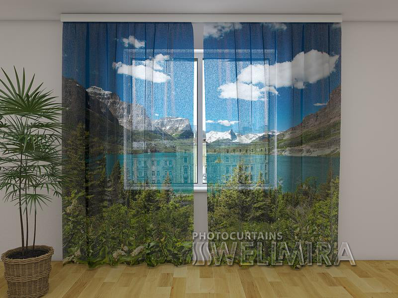 3D Curtain Summer in the Mountains - Wellmira