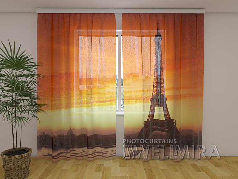 3D Curtain Eiffel Tower 4 - Wellmira