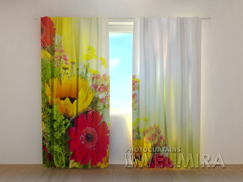 3D Curtain Gerberas - Wellmira