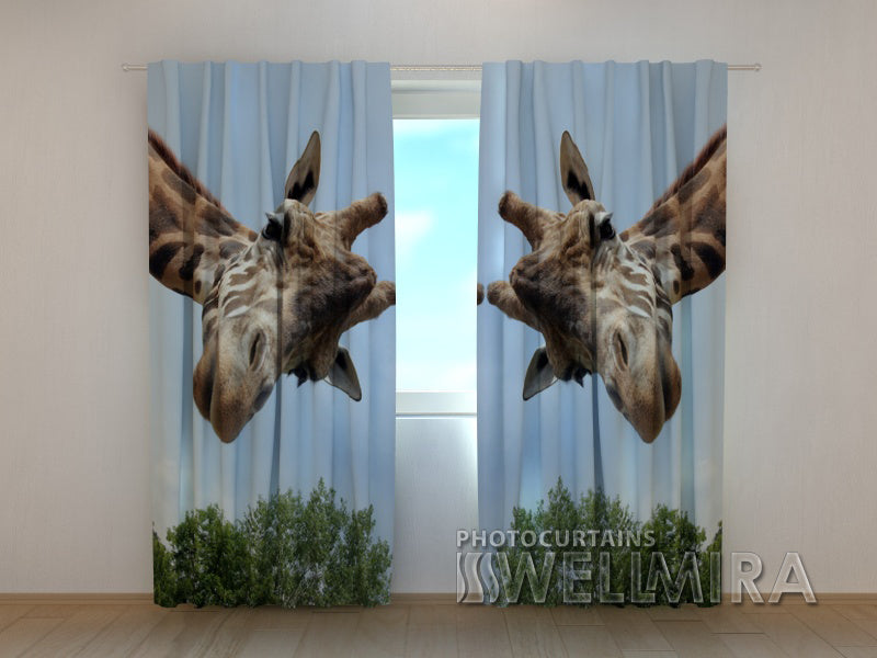 3D Curtain Giraff - Wellmira