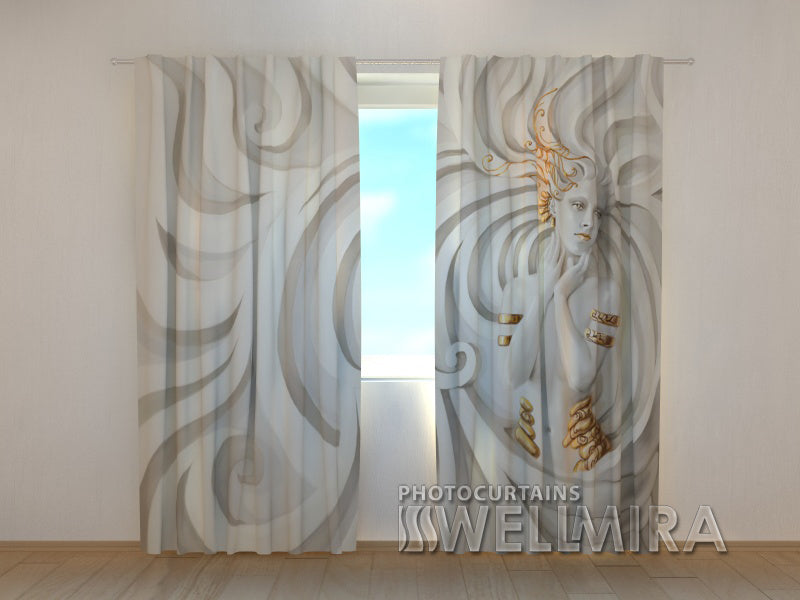 Photo Curtain Greek Relief