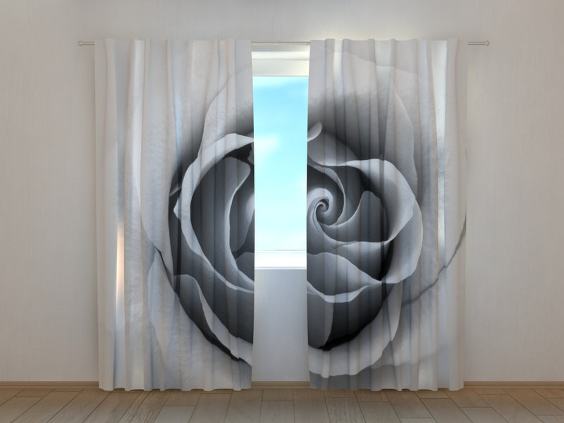 Photo Curtain Grey Rose - Wellmira