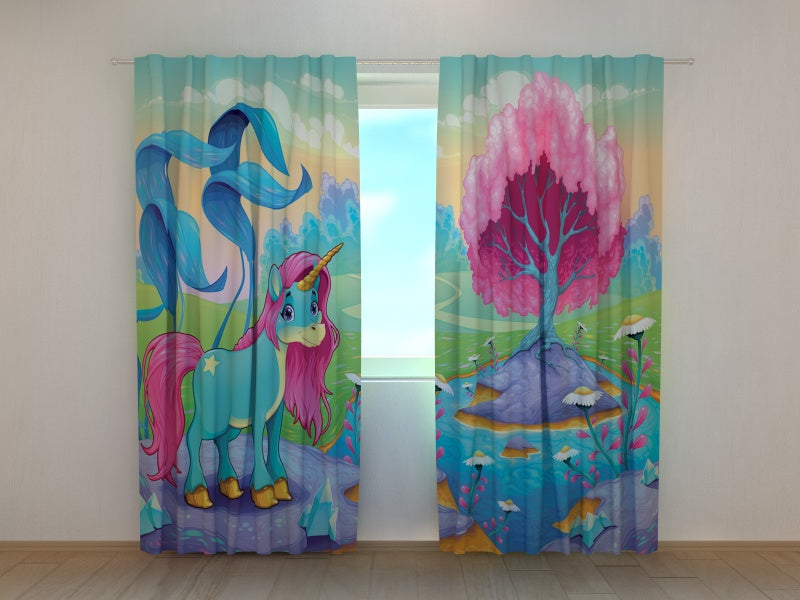 Photo Curtain Happy Unicorn