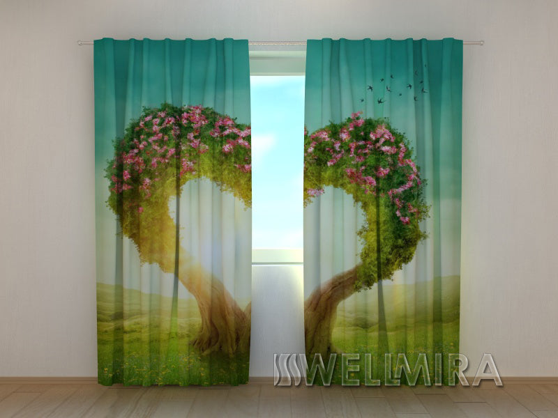Photo Curtain Heart Tree - Wellmira