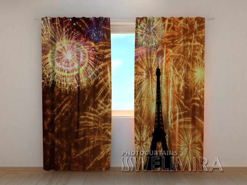 3D Curtain Holiday Paris - Wellmira