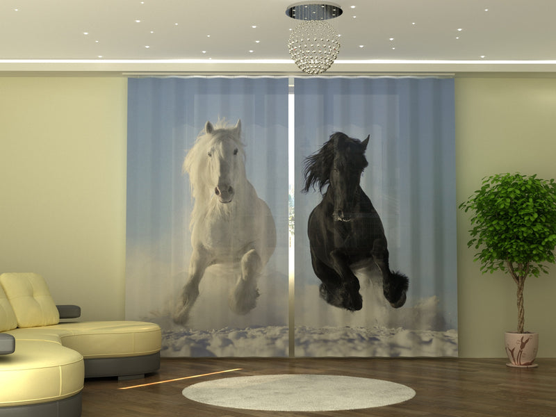 Photo-curtain Horses W290xH250 cm - Wellmira