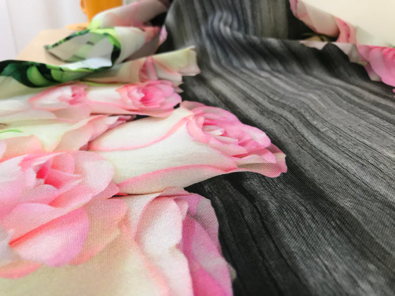 Tablecloth Roses and wood - Wellmira