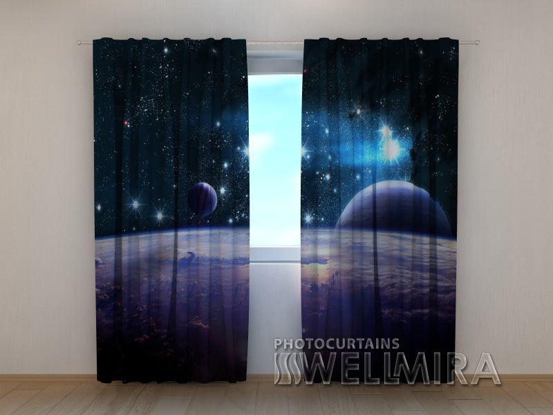 Photo Curtain Incredible Space - Wellmira