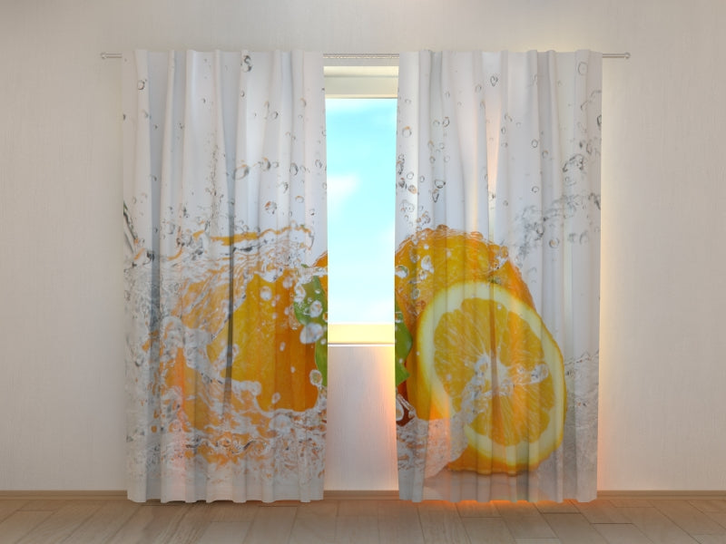 Photo Curtain Juicy Orange - Wellmira