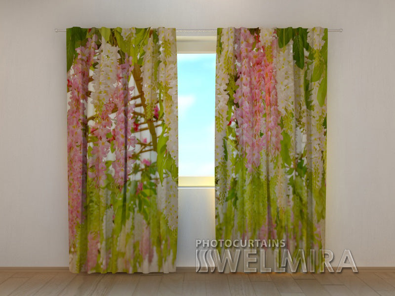 Photo Curtain Laburnum Flowers - Wellmira