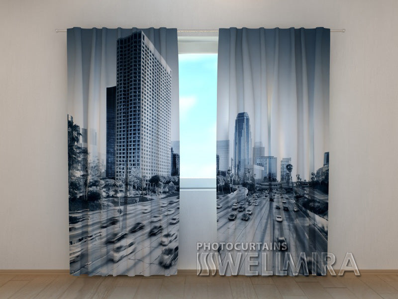 Photo Curtain Life in a Big City - Wellmira