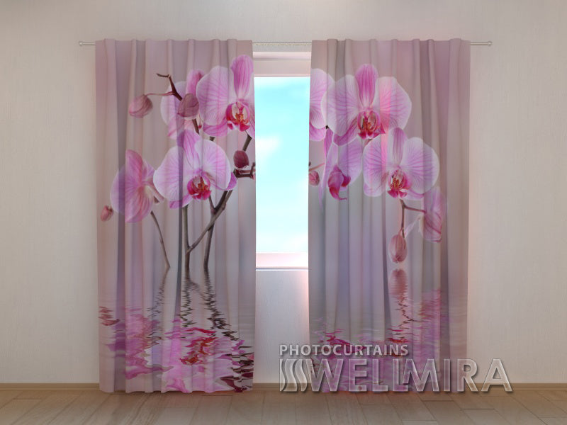 Photocurtain Lily Orchid - Wellmira