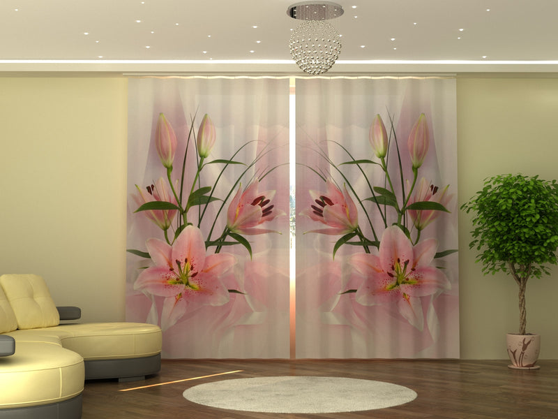 Photo-curtain Lilies W290xH250 cm - Wellmira
