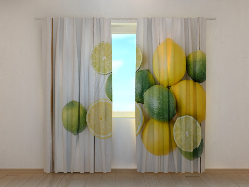 Photo Curtain Limes and Lemons