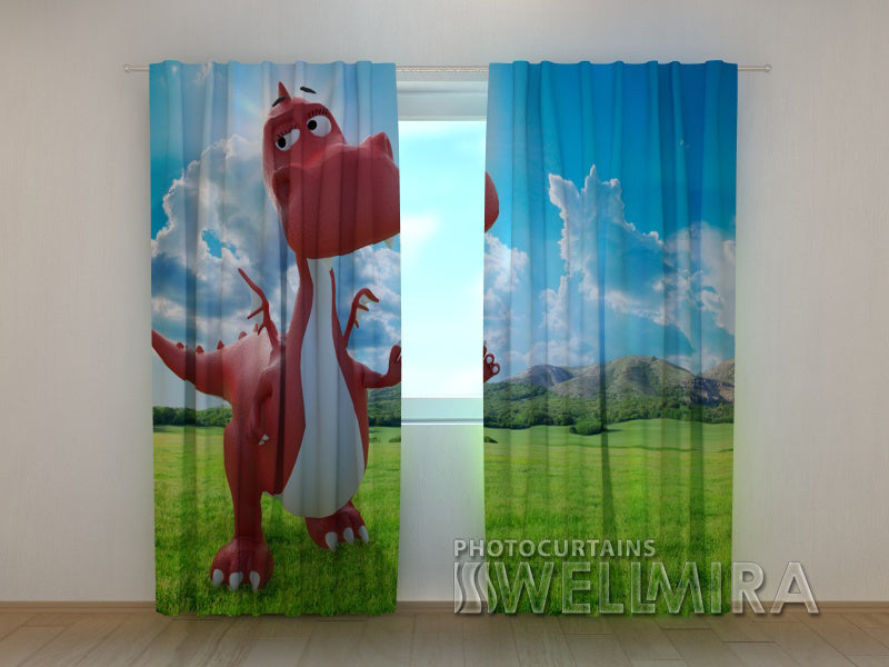 3D Curtain Little Dragon - Wellmira