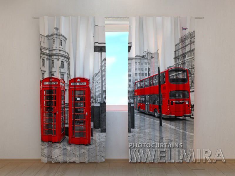 3D Curtain London Bus - Wellmira