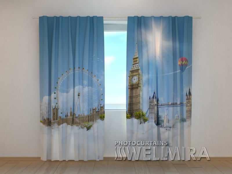 Photo Curtain London Sky - Wellmira