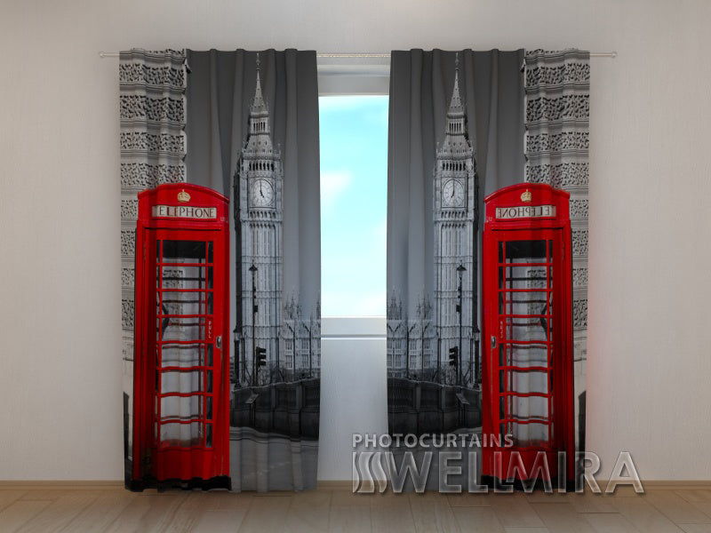3D Curtain London Telephone - Wellmira