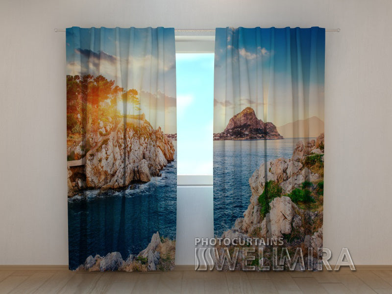 Photo Curtain Lovely Sicilia - Wellmira