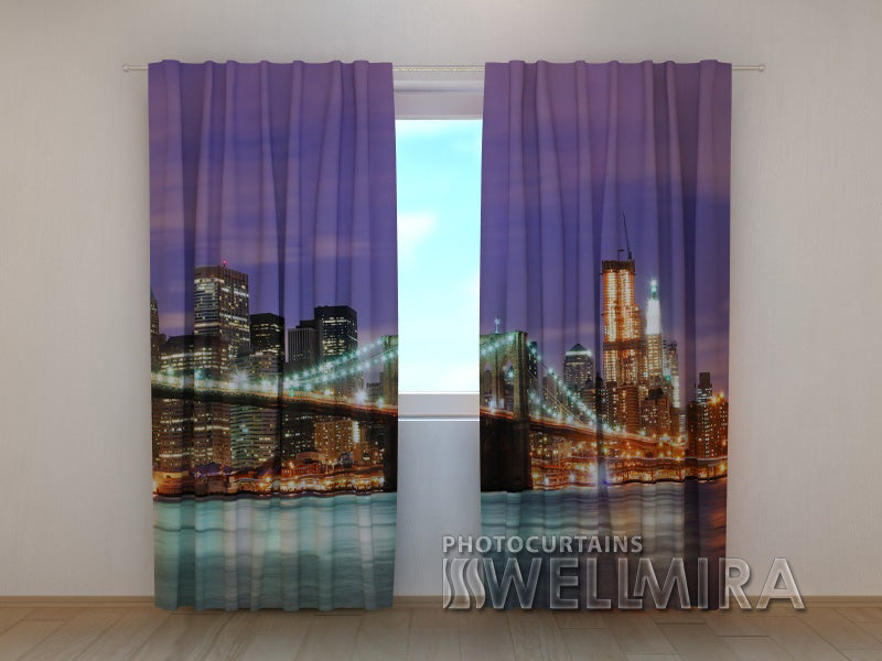 Photo Curtain Manhattan Bridge 3 - Wellmira