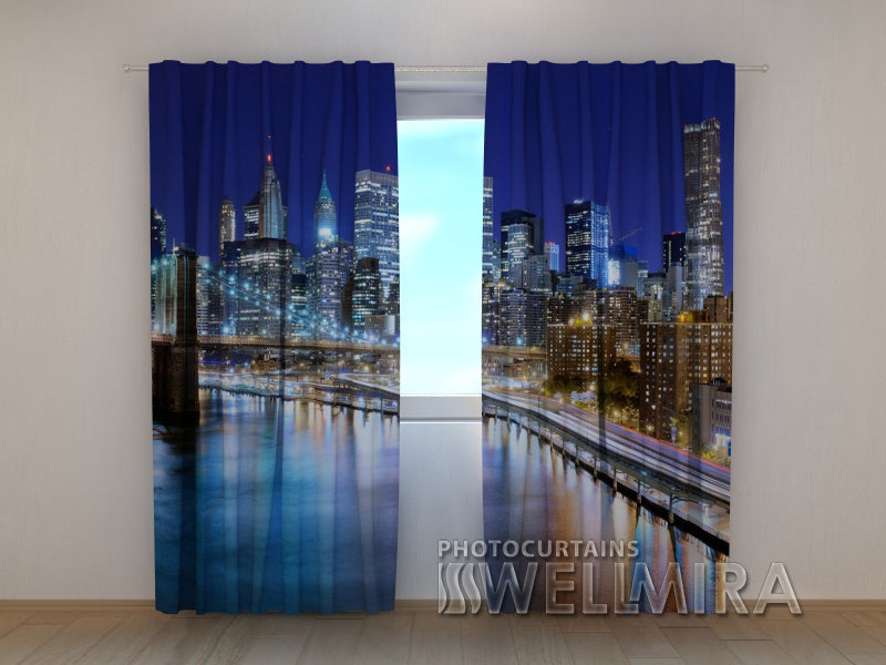 Photo Curtain Manhattan Bridge - Wellmira