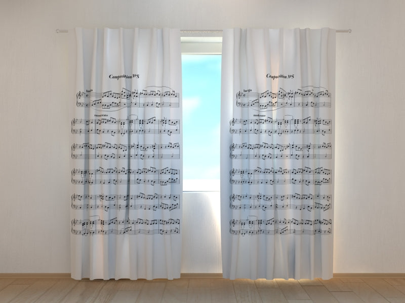 Photo Curtain Music Note Sheet - Wellmira