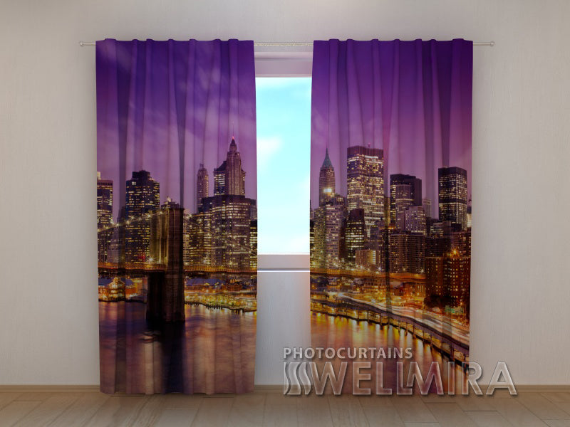 Photo Curtain Sky over Manhattan - Wellmira