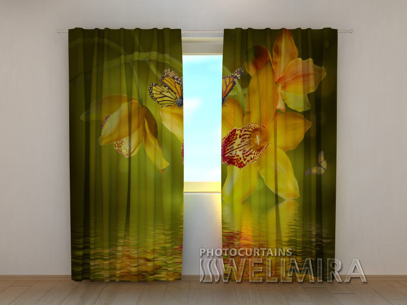 Photocurtain Nephrite Orchids - Wellmira