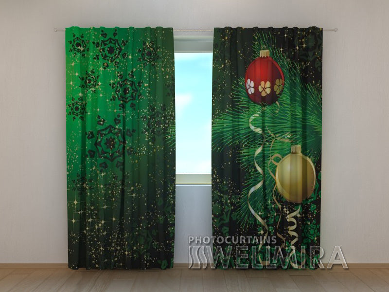 Photo Curtain New Year Branch - Wellmira