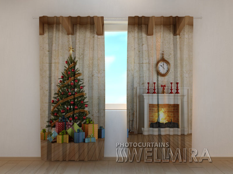 Photo Curtain New Year's Interior - Wellmira