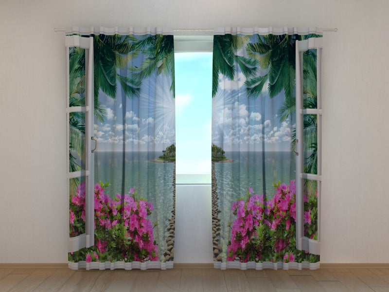 Photo Curtain Open Window